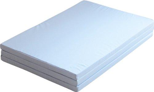 エムール 日本製 ソフラン 三つ折りアンダーマットレス シングル 160N 綿100% ブルー