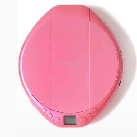 [해외]AC-P02PK 에스 입체파 휴대용 CD 플레이어 핑크/AC-P02PK Esquibism portable CD player Pink