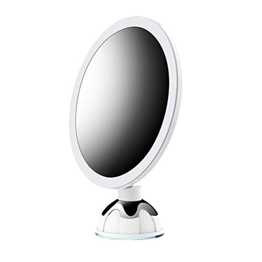 クーポン称賛ペナルティ(2019改良版)10倍拡大鏡 LED化粧鏡 浴室鏡 卓上鏡 ミラー 吸盤ロック付き LEDミラー 壁掛けメイクミラー 360度回転スタンドミラー 単3電池&USB給電