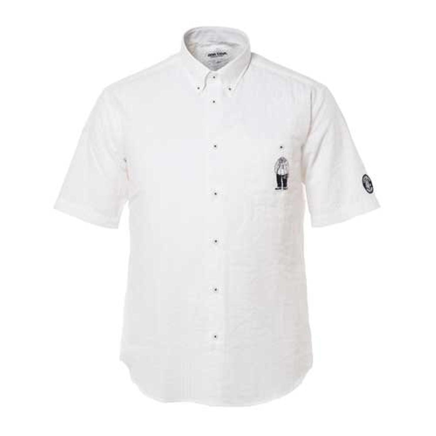 全体に文房具驚くべき(シナコバ) SINA COVA 半袖ボタンダウンシャツ オフ Lサイズ