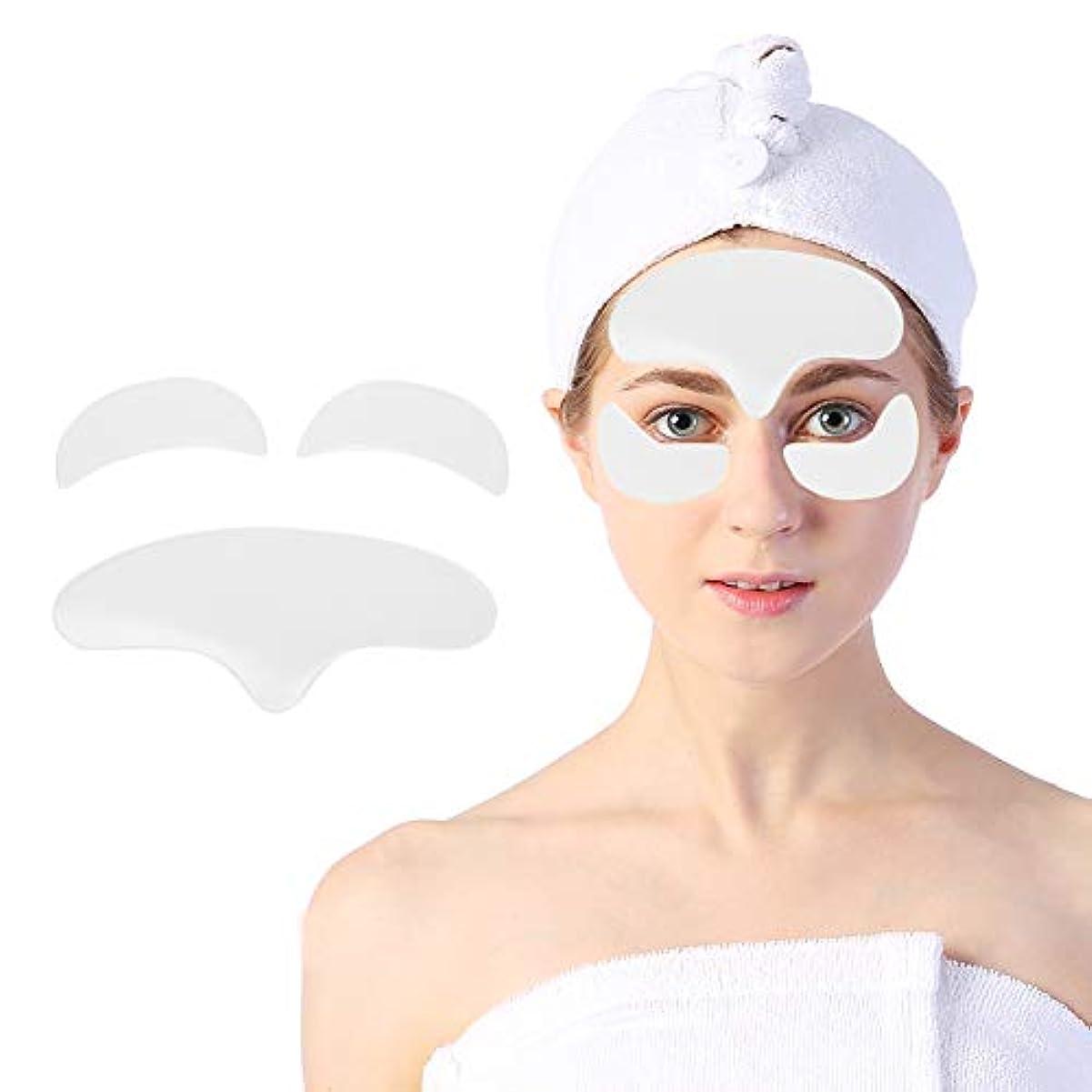 せがむ要求劇作家顔用アンチリンクルパッド、顔面および目の皮膚を持ち上げて引き締めるための再利用可能なシリコーン肌のリラクゼーションパッチ