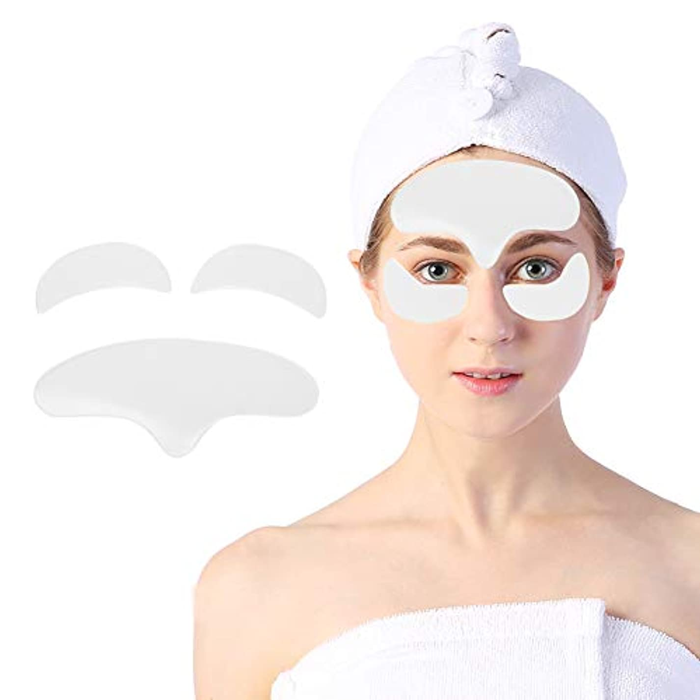 押すアミューズ特性顔用アンチリンクルパッド、顔面および目の皮膚を持ち上げて引き締めるための再利用可能なシリコーン肌のリラクゼーションパッチ