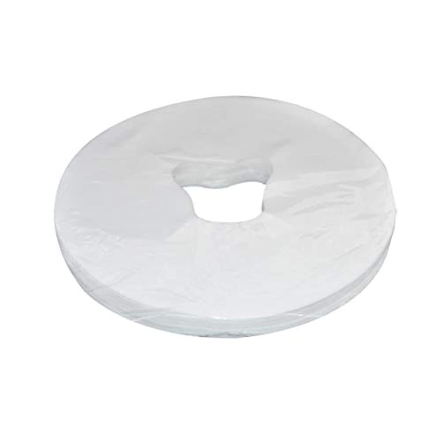 俳優用心する取り戻すSUPVOX 100シートマッサージフェイスレストカバー使い捨てフェイスクレードルカバーマッサージヘッドレストカバーSPA美容院マッサージタトゥーホテルマットレスカバー29×28 cm(ホワイト)