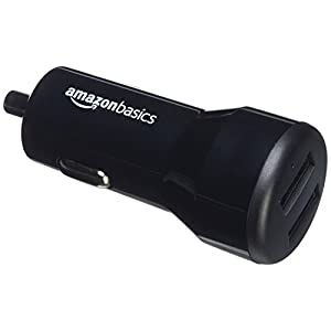 Amazonベーシック USB 2ポート車載充電器 Apple & Androidデバイス対応 4.8 Amp/24W ブラック