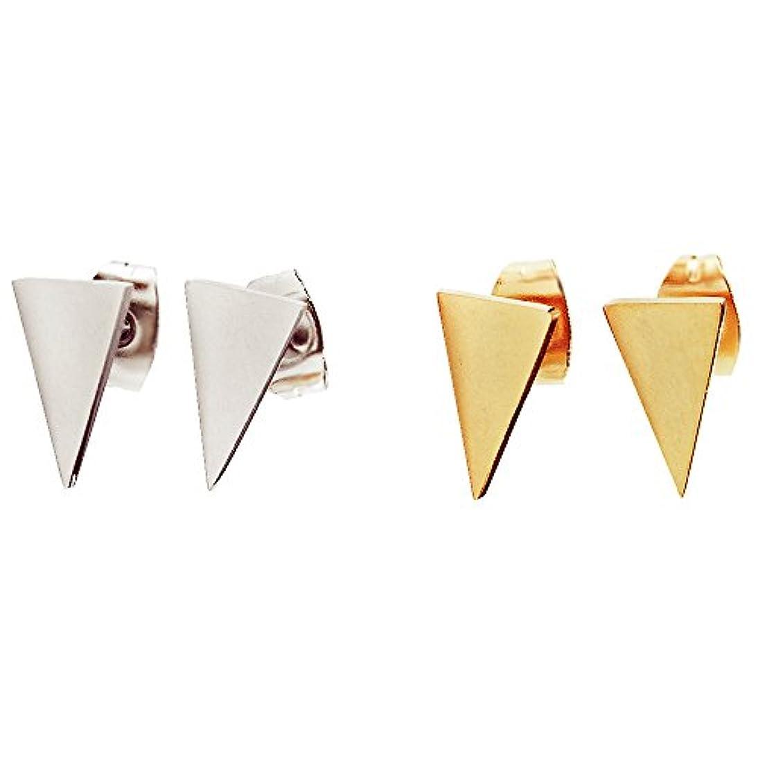 権威すみませんブリッジ三角形316lステンレススチールイヤリング、耳スタッド、メンズジュエリー、メンズイヤリング