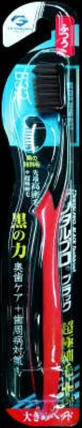 究極のレディリネンデンタルプロ ブラックハブラシ 超極細毛プラス大きめヘッド ふつう (高機能ハブラシ)×120点セット (4973227211077)