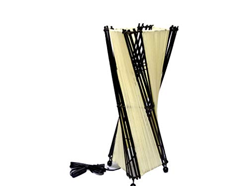 間接照明 スタンドライト ♪バンブーとコットンのトルネードランプM50cm(花台付)♪ アジアン照明 バリ おしゃれ フロアスタンド エスニック