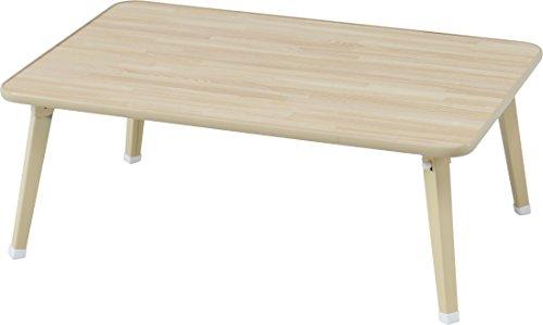 不二貿易 ローテーブル 折りたたみ ちゃぶ台 幅75×奥行51cm ナチュラル 78145