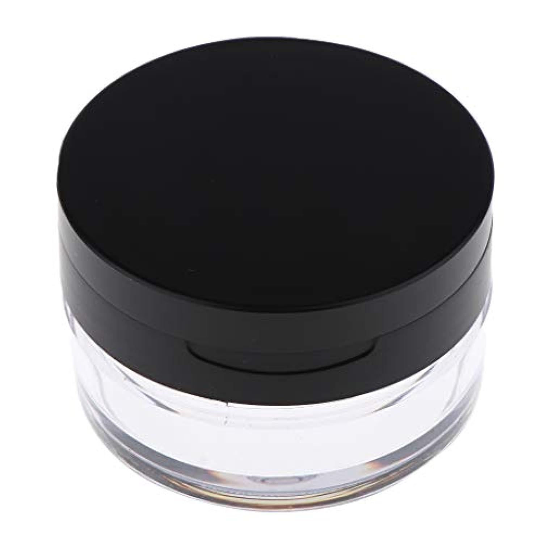 店員公式漏れコスメ用詰替え容器 ルースパウダーボックス ルースパウダーケース 全2色 - ブラックL