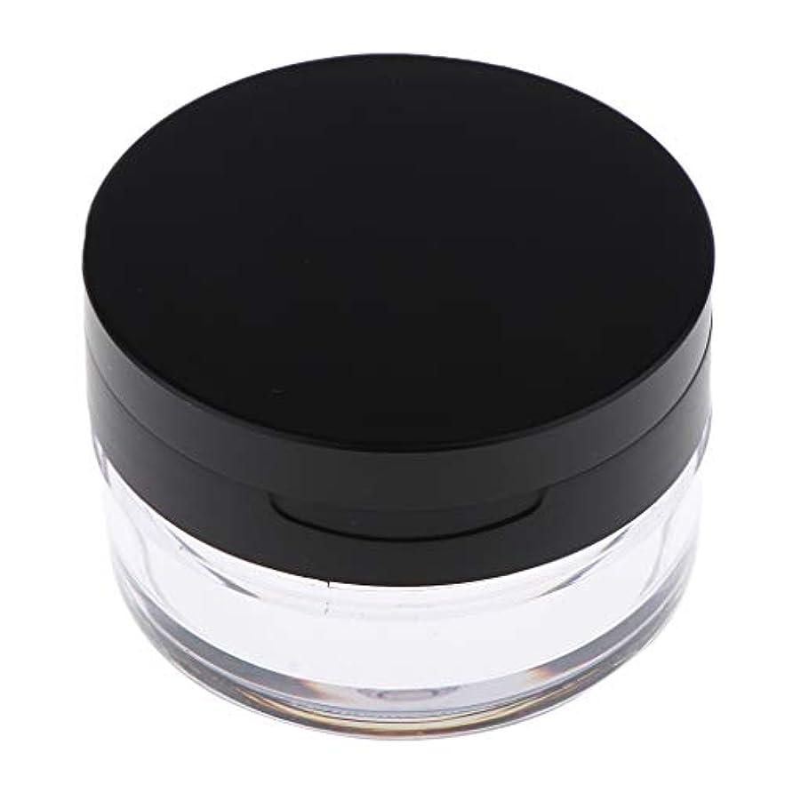 つなぐ写真を描く破壊的コスメ用詰替え容器 ルースパウダーボックス ルースパウダーケース 全2色 - ブラックL