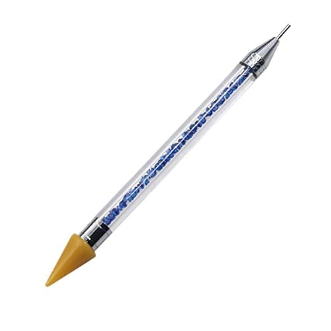 銀こする安らぎネイルペン DIY デュアルエンド 絵画ツール ペン ネイル筆 ネイルアートペン ネイルアートブラシ マニキュアツールキット ネイルツール ネイル用品 ラインストーンピッカー点在ペン マニキュアネイルアート DIY 装飾ツール