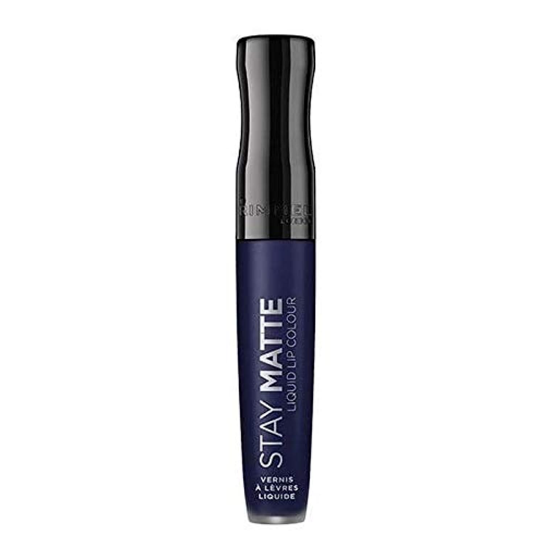[Rimmel ] リンメルステイマット液状口紅ブルーアイリス830 - Rimmel Stay Matte Liquid Lipstick Blue Iris 830 [並行輸入品]