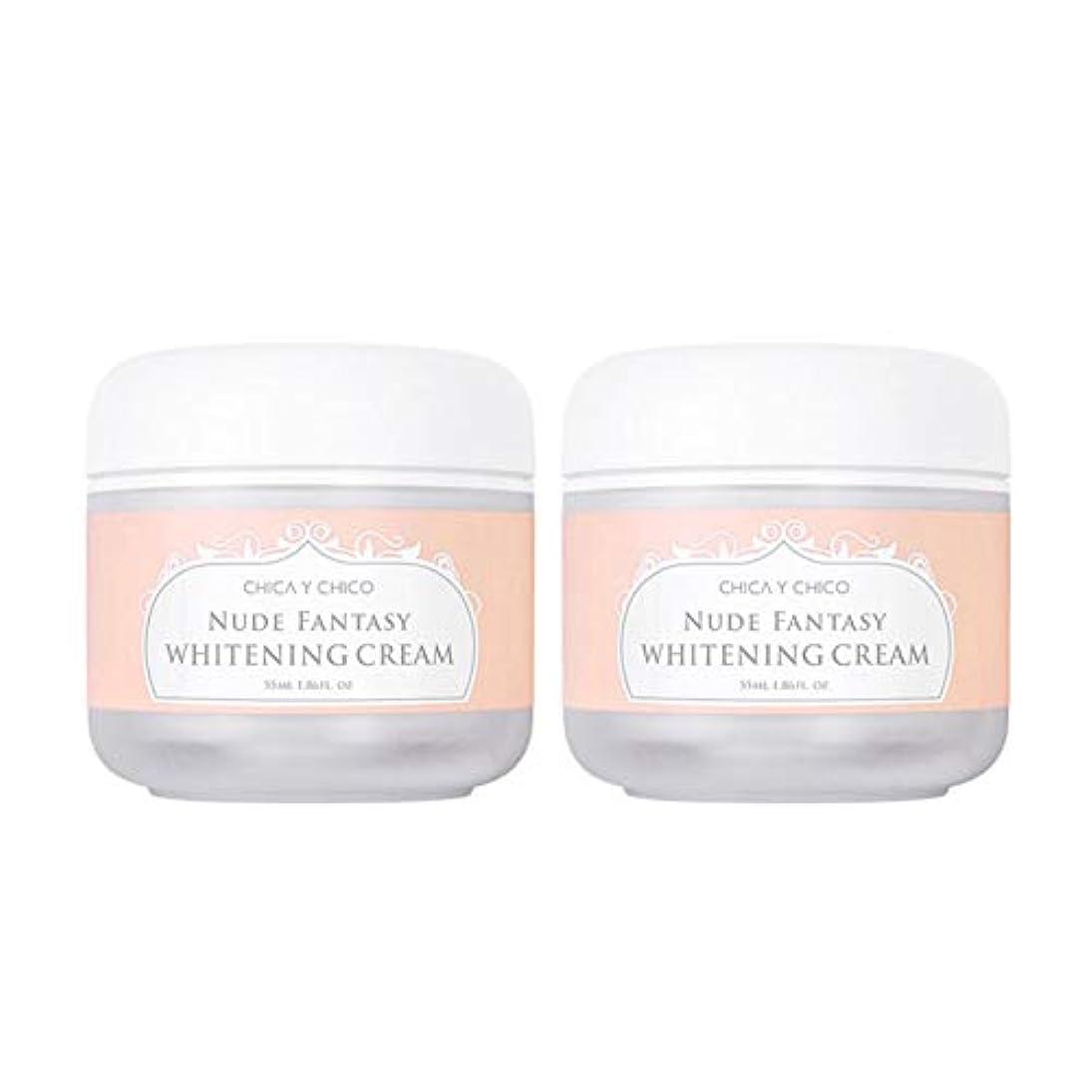 チカ?イ?チーコヌードファンタジーホワイトニングクリーム55mlx2本セット韓国コスメ、Chica Y Chico Nude Fantasy Whitening Cream 55ml x 2ea Set Korean Cosmetics...