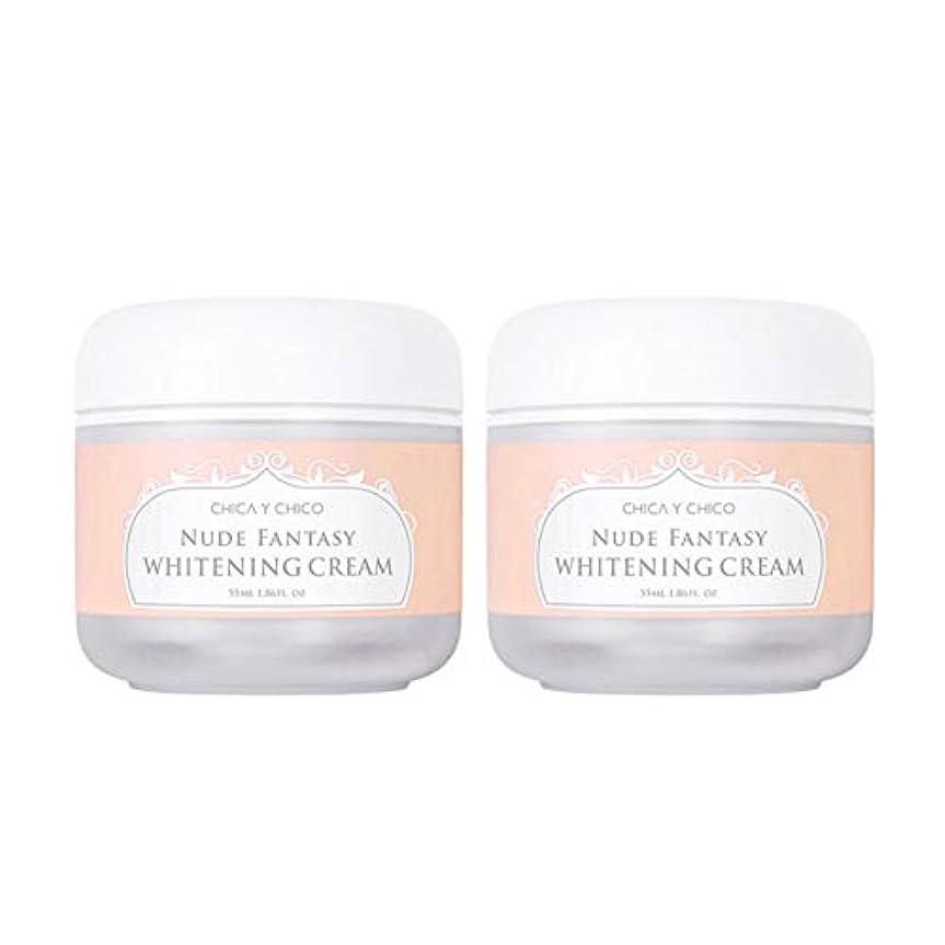 ティッシュインタビューいいねチカ?イ?チーコヌードファンタジーホワイトニングクリーム55mlx2本セット韓国コスメ、Chica Y Chico Nude Fantasy Whitening Cream 55ml x 2ea Set Korean Cosmetics...