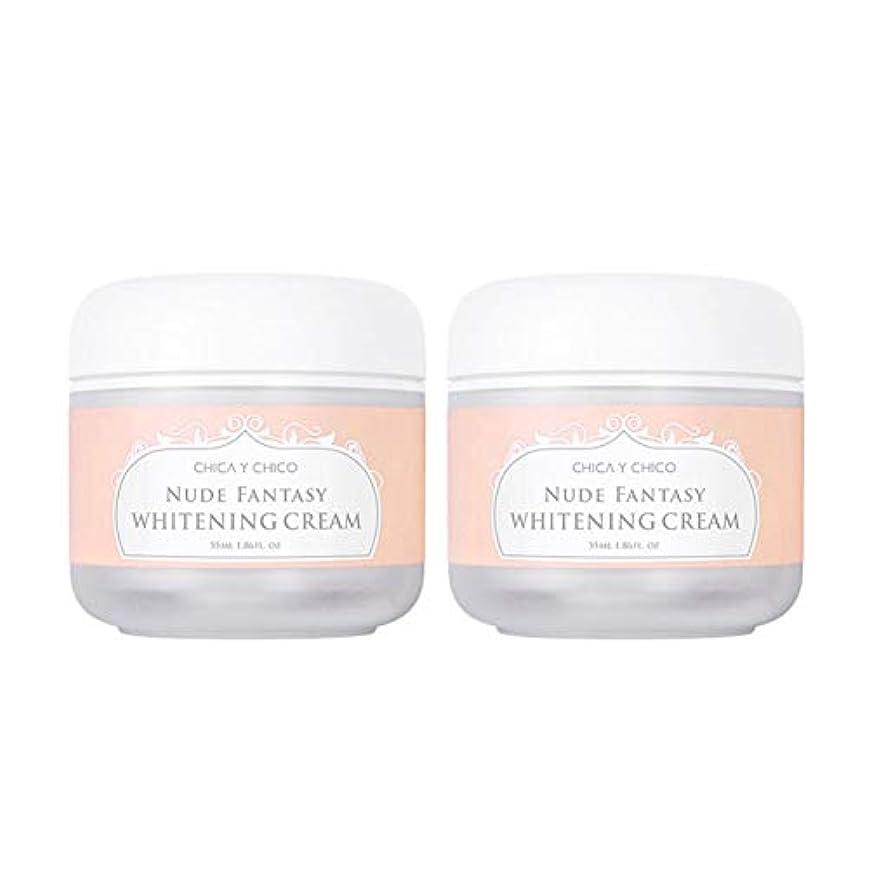すなわち成長揮発性チカ?イ?チーコヌードファンタジーホワイトニングクリーム55mlx2本セット韓国コスメ、Chica Y Chico Nude Fantasy Whitening Cream 55ml x 2ea Set Korean Cosmetics...