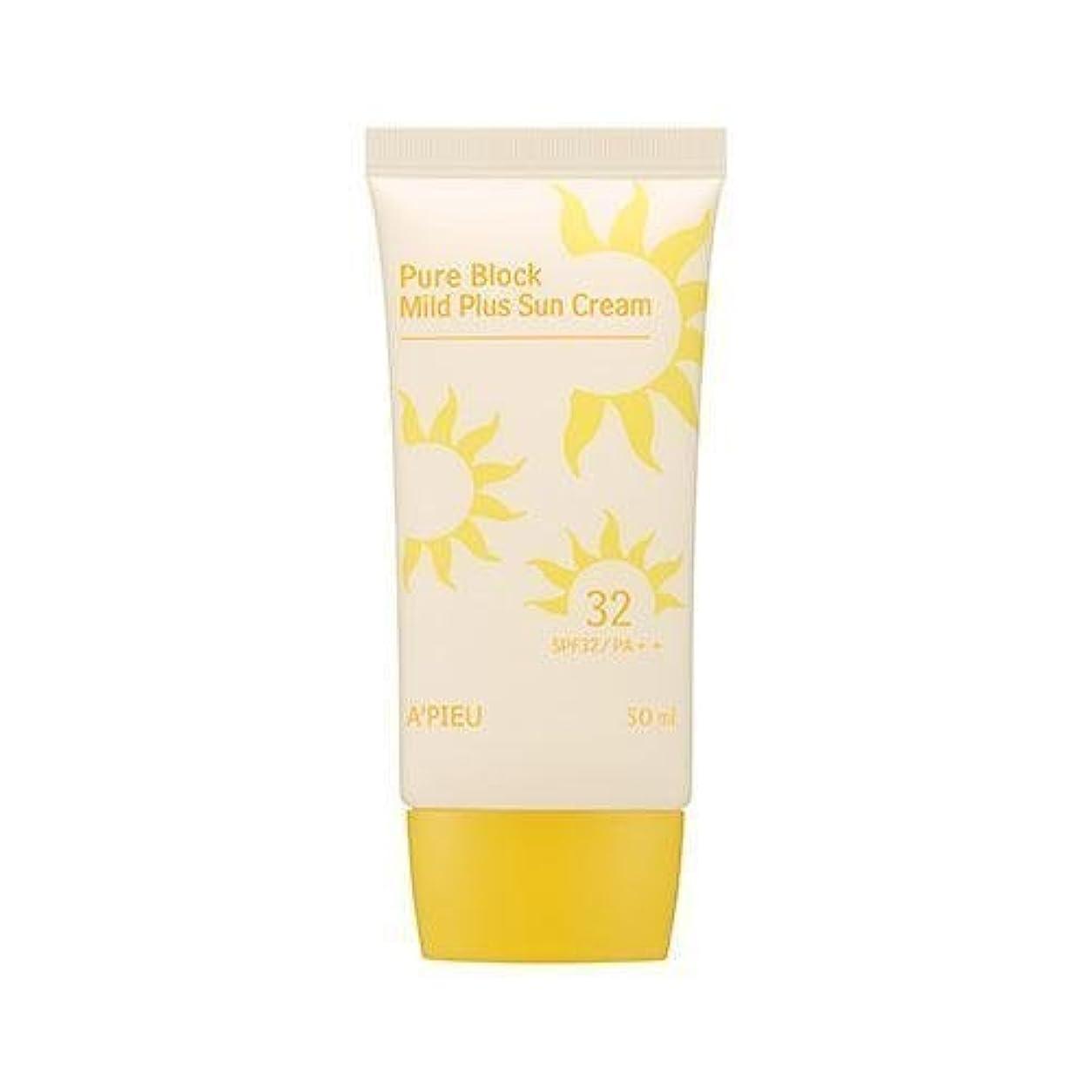 うっかり効能ある冒険者APIEU Pure Block Mild Plus Sun Cream (SPF32/PA++)/ Made in Korea