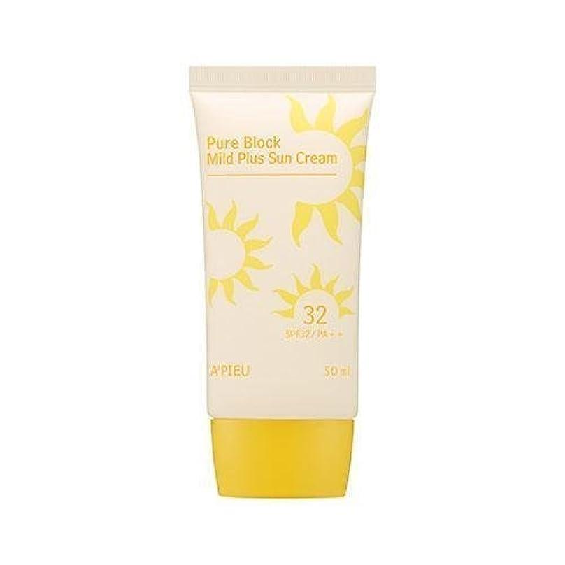 の頭の上ロードされた代わってAPIEU Pure Block Mild Plus Sun Cream (SPF32/PA++)/ Made in Korea
