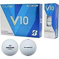 BRIDGESTONE(ブリヂストン) TOUR B V10 ゴルフボール オウンネーム加工付き 1ダース12球入 RVWX(ホワイト)