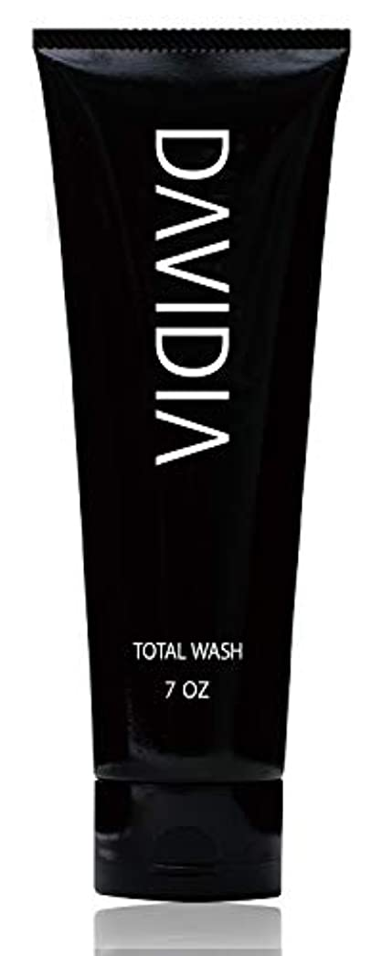 休みトマトより多い【ダビディア】洗顔 & シャンプー メンズ トータルウォッシュ ノンシリコン/ボタニカル/アミノ酸シャンプー(スカルプ 育毛ケアに)200g