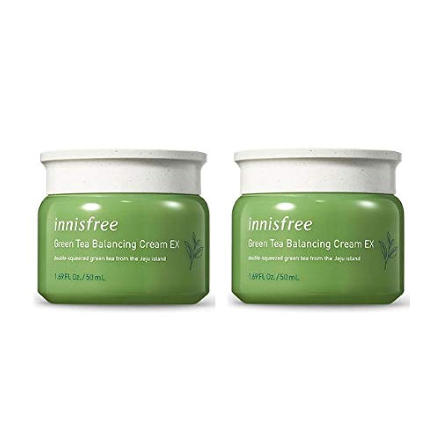 キノコ支配的推進、動かすイニスフリーグリーンティーバランシングクリームEX 50mlx2本セット韓国コスメ、innisfree Green Tea Balancing Cream EX 50ml x 2ea Set Korean Cosmetics...