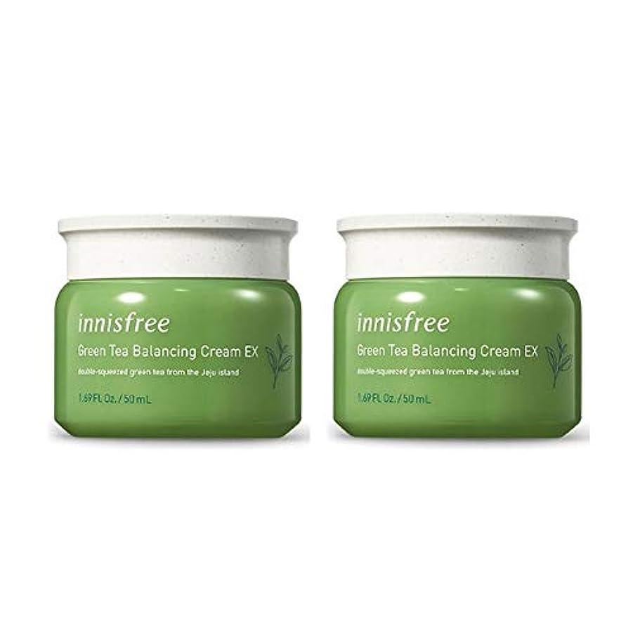 メジャーボーナスれるイニスフリーグリーンティーバランシングクリームEX 50mlx2本セット韓国コスメ、innisfree Green Tea Balancing Cream EX 50ml x 2ea Set Korean Cosmetics [並行輸入品]