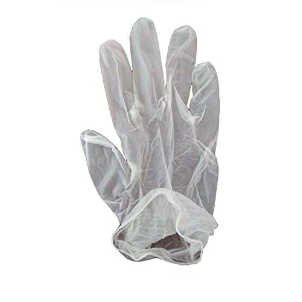 100箱の使い捨て手袋、PVC手袋、透明で濃厚なヘアケア手袋。 (サイズ さいず : XL, UnitCount : 200 only)