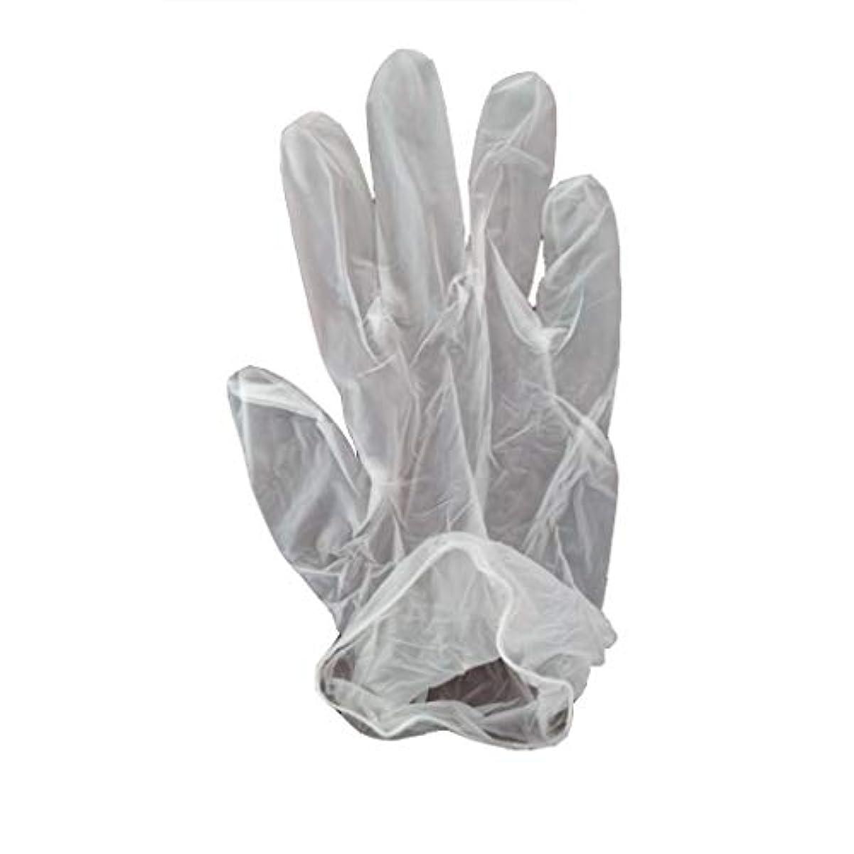指紋費用軌道100箱の使い捨て手袋、PVC手袋、透明で濃厚なヘアケア手袋。 (サイズ さいず : XL, UnitCount : 200 only)