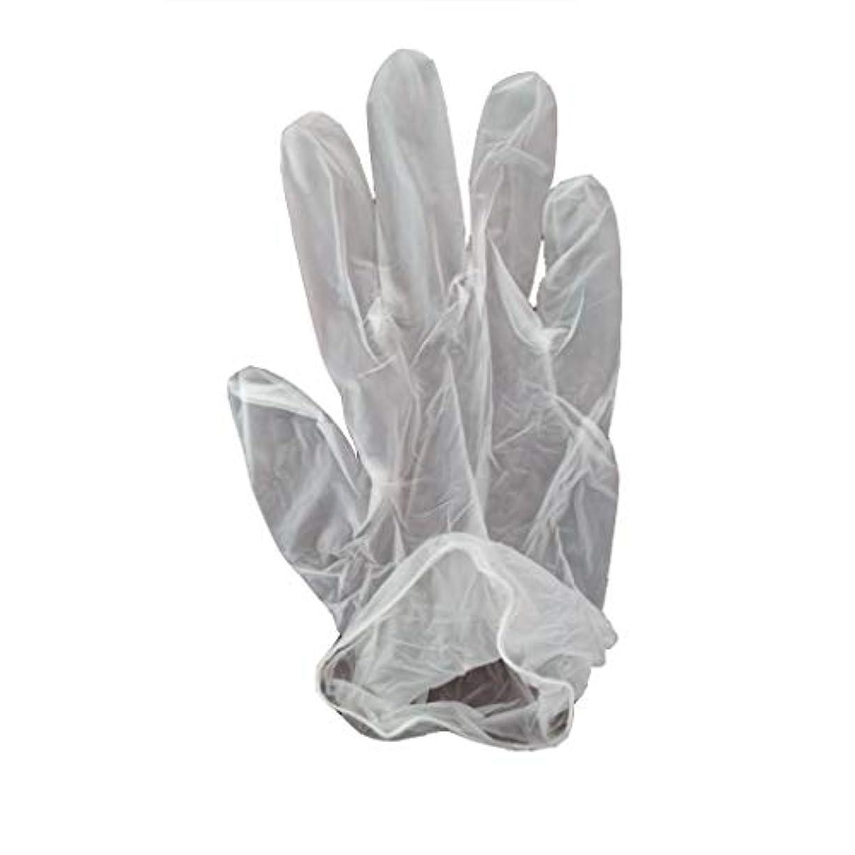 ずんぐりしたクリックペスト100箱の使い捨て手袋、PVC手袋、透明で濃厚なヘアケア手袋。 (サイズ さいず : XL, UnitCount : 200 only)