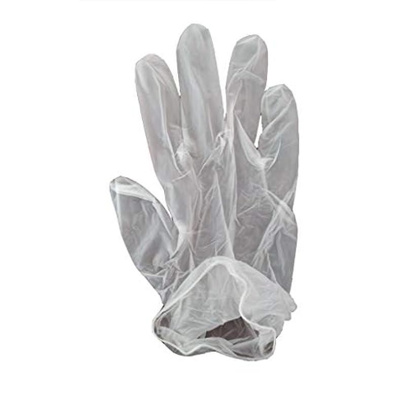 ランク遺棄された習慣100箱の使い捨て手袋、PVC手袋、透明で濃厚なヘアケア手袋。 (サイズ さいず : XL, UnitCount : 200 only)
