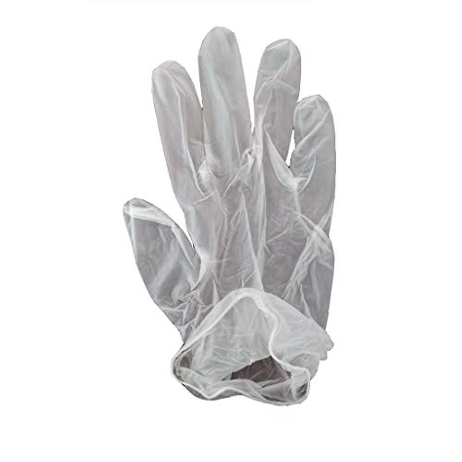 教アカウントミンチ100箱の使い捨て手袋、PVC手袋、透明で濃厚なヘアケア手袋。 (サイズ さいず : XL, UnitCount : 200 only)