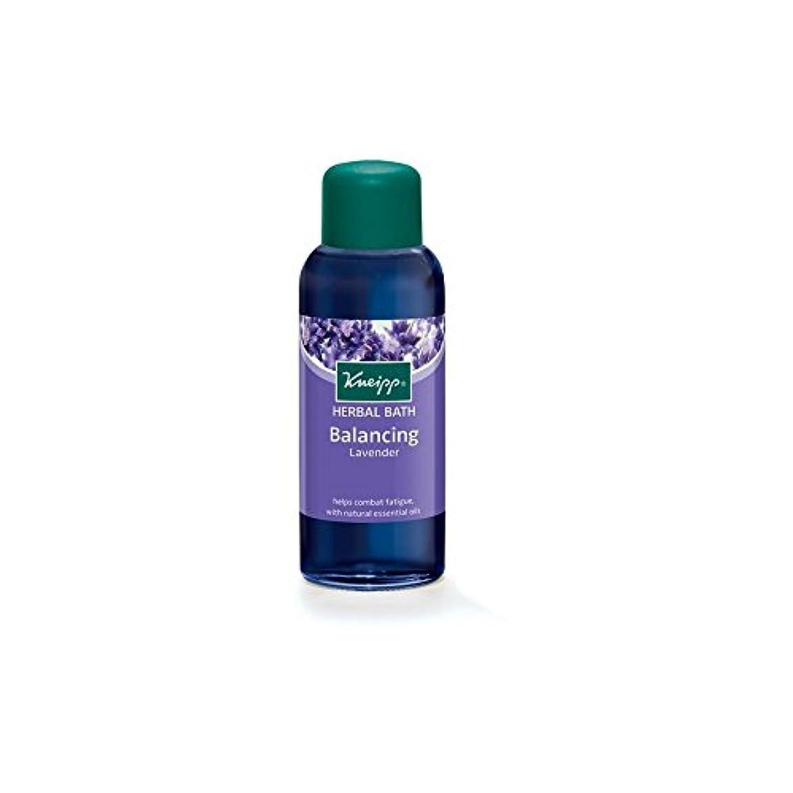 説教話すやさしいクナイプのバランスハーバルラベンダーバスオイル(100ミリリットル) x4 - Kneipp Balancing Herbal Lavender Bath Oil (100ml) (Pack of 4) [並行輸入品]