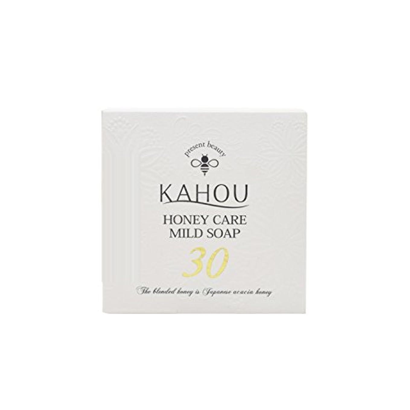 ラッチうぬぼれた分析KAHOU ハニーケアーマイルドソープサーティ90g