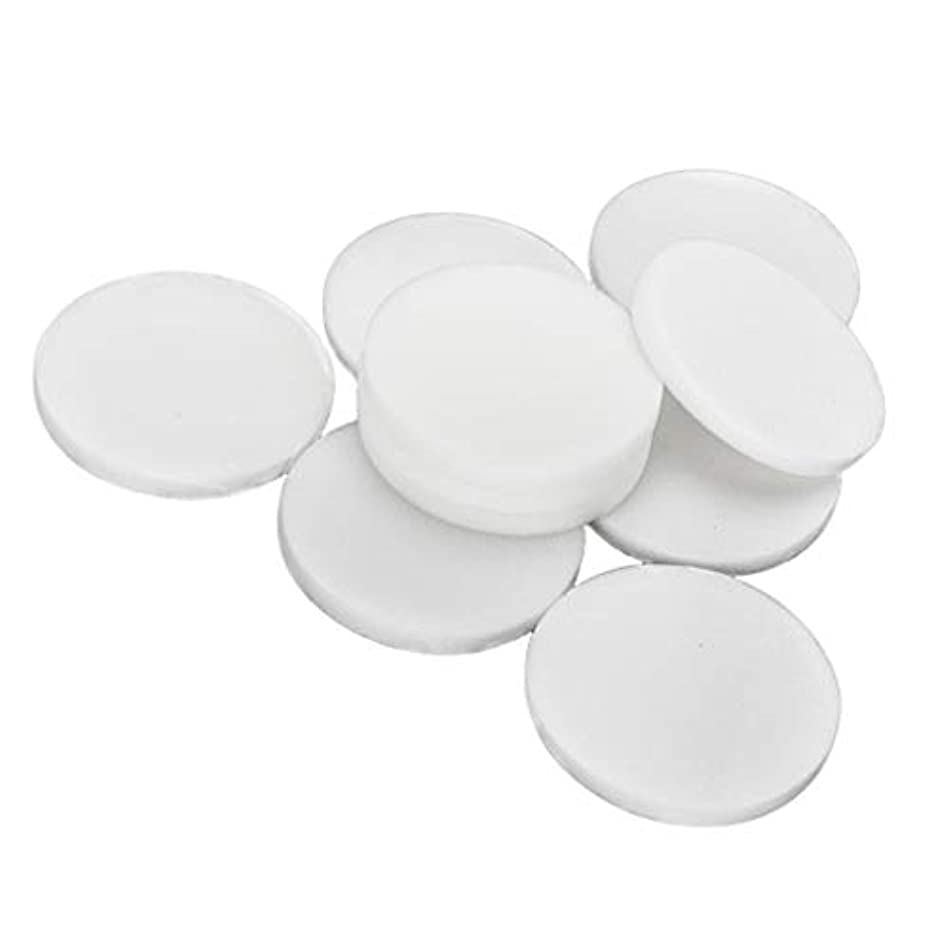 P Prettyia 10個 メイク落とし 使い捨て 洗顔パフ 通気性 洗顔スポンジ メイクアップパフ 2サイズ選べ - 大