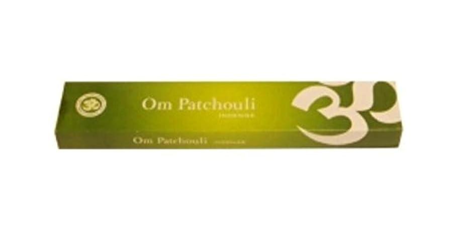 労働者年ミスペンドOm Patchouli Incense 1 pack, 15 grams グリーン