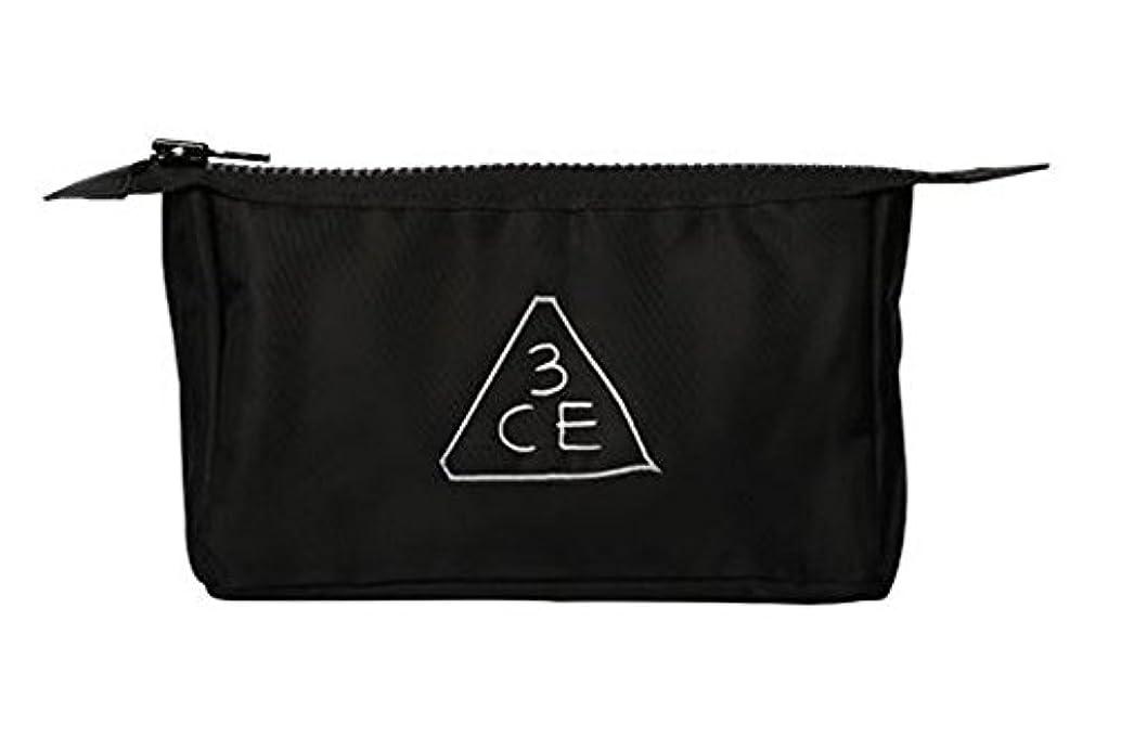 からかうバッジ説得力のある3CE (3 CONCEPT EYES) 正規品 コスメポーチ 日本国内発送 (BLACK(オリジナル))