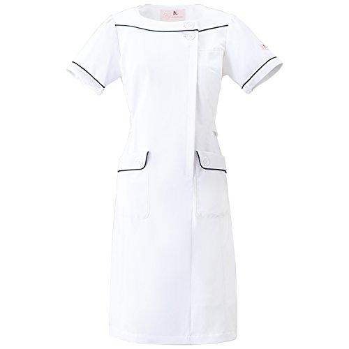 (FOLK) フォーク ワコール レディス ワンピース 女性用 診察衣 白衣 ナース服 (HI108) ホワイト 3L