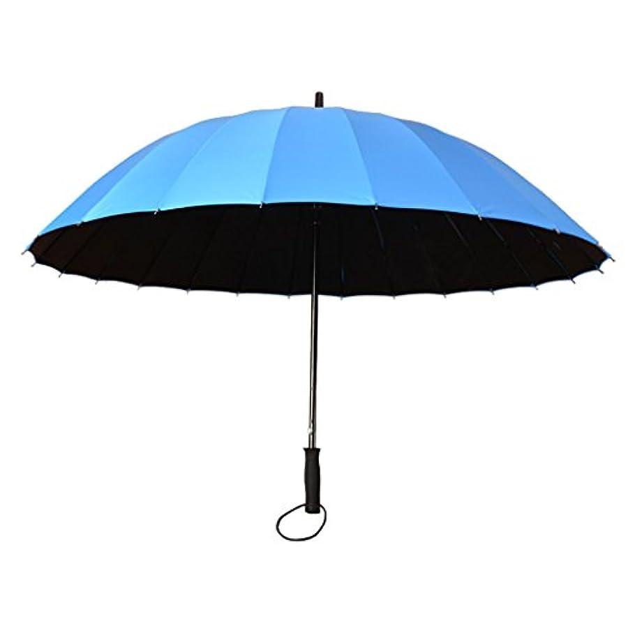 保険良性警報防風傘男性の女性軽量防水DurableUmbrella強い16繊維肋骨の傘 (色 : A)