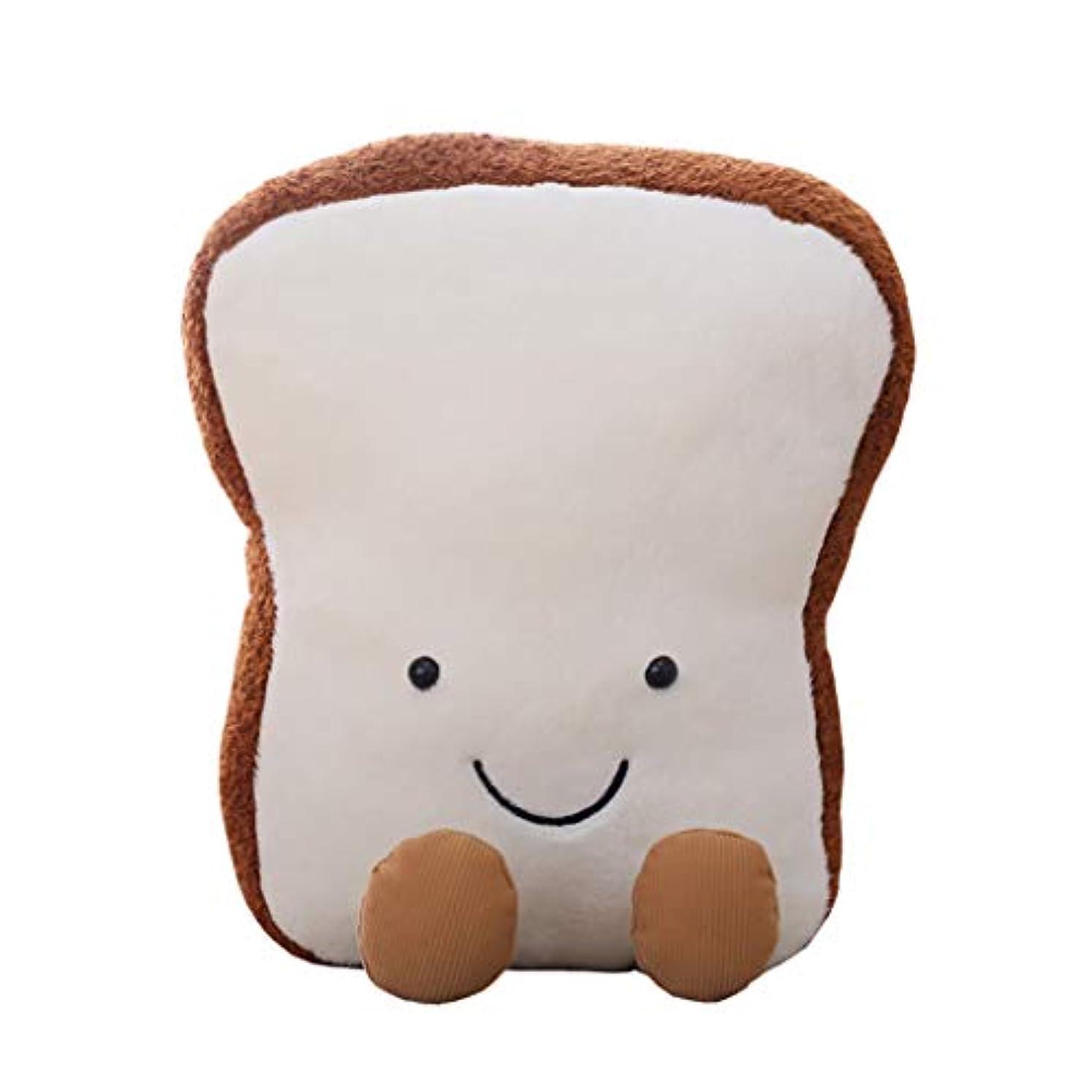 ディーラー毛皮摂氏度Minhuih 漫画トーストぬいぐる パン枕 子供のおもちゃ 知育玩具 子供のお誕生日プレゼント