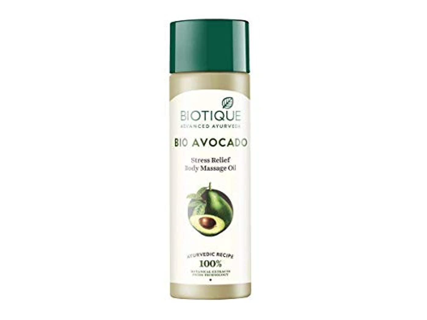 Biotique Bio Cado Avocado Stress Relief Body Massage Oil, 200ml Relaxing oil Biotique Bio Cadoアボカドストレスリリーフボディマッサージオイル...
