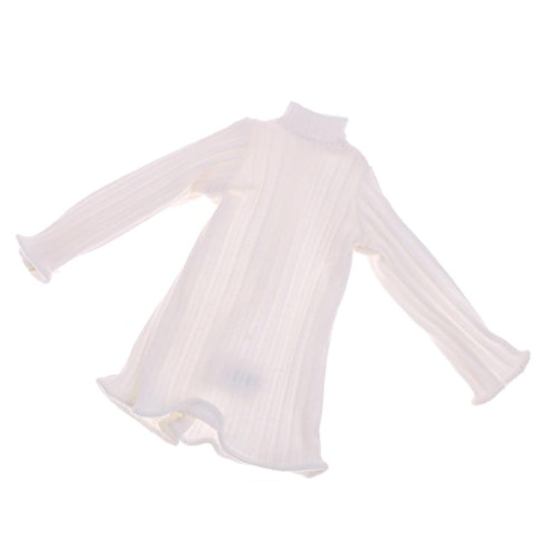 Fenteer ファッション 12インチブライスアゾンリカドール人形のため 長袖ジャンパー ドレストップ 全7色 - ホワイト