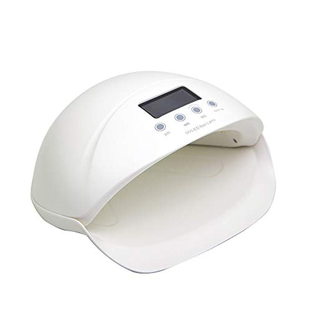 タップ購入税金硬化用UVライトLED ネイルドライヤー UVネイルライト 50W タイマー設定可能