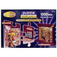 Puzzle + Sculpture (groß) - Ägypten: Entdecke die DRITTE DIMENSION im Puzzle. Mystische Motivpuzzle in 96x66cm. Aus den speziellen Puzzleteilen wird eine dreidimensionale Skulptur