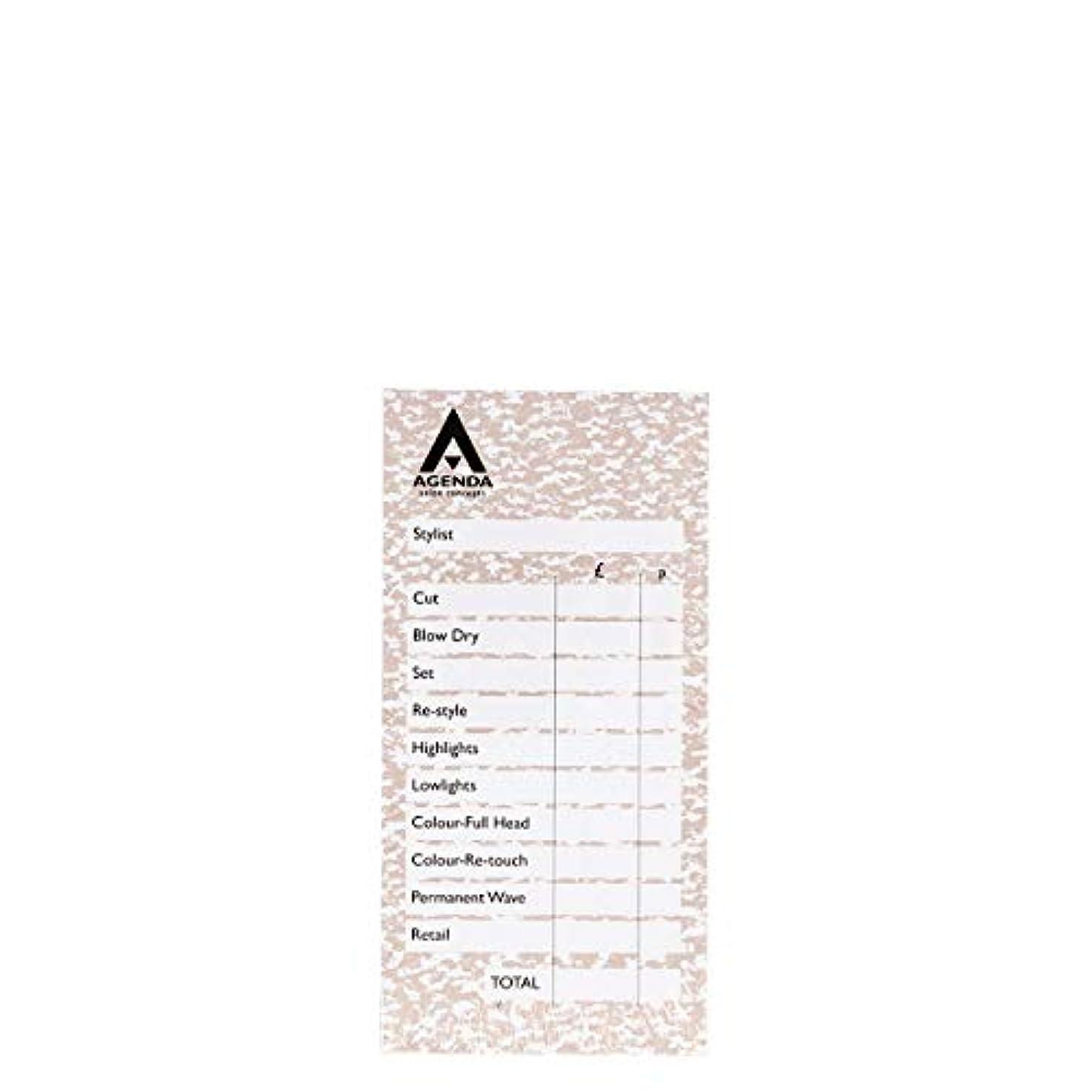 大通りネックレス咳アジェンダ サロンコンセプト チェックパッドベージュ6x100リーフ[海外直送品] [並行輸入品]