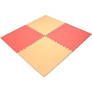抗菌ジョイントマット mio 60cm 32枚組 6畳用 フチ付 ピンク 80540