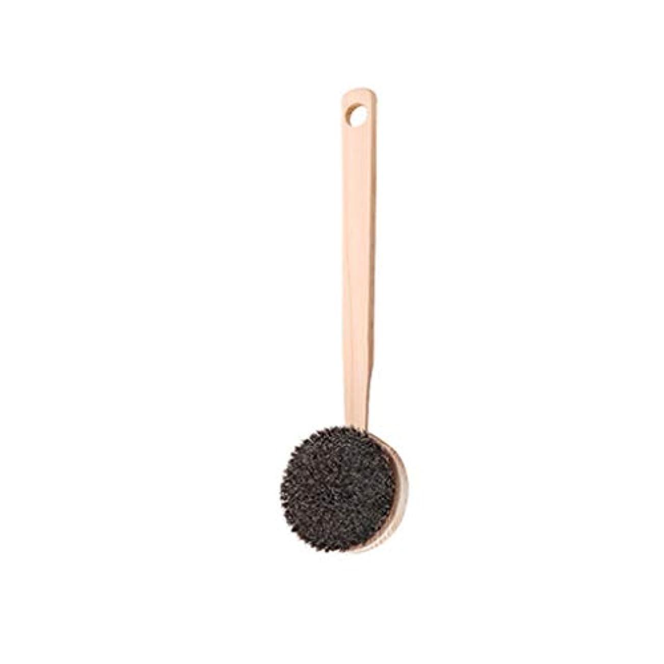 適合する広くハンドブックバスブラシバックブラシロングハンドルやわらかい毛髪バスブラシバスブラシ角質除去クリーニングブラシ (Color : A)