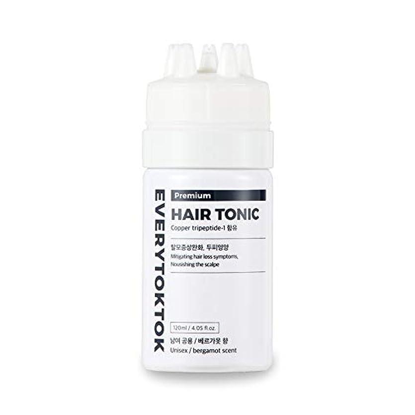 サーバ誘惑通常[Every TokTok] プレミアムヘアトニック - 頭皮エッセンス、育毛セラム、髪の根、髪の成長、4.05 fl oz、 韓国 ヘアトリートメント