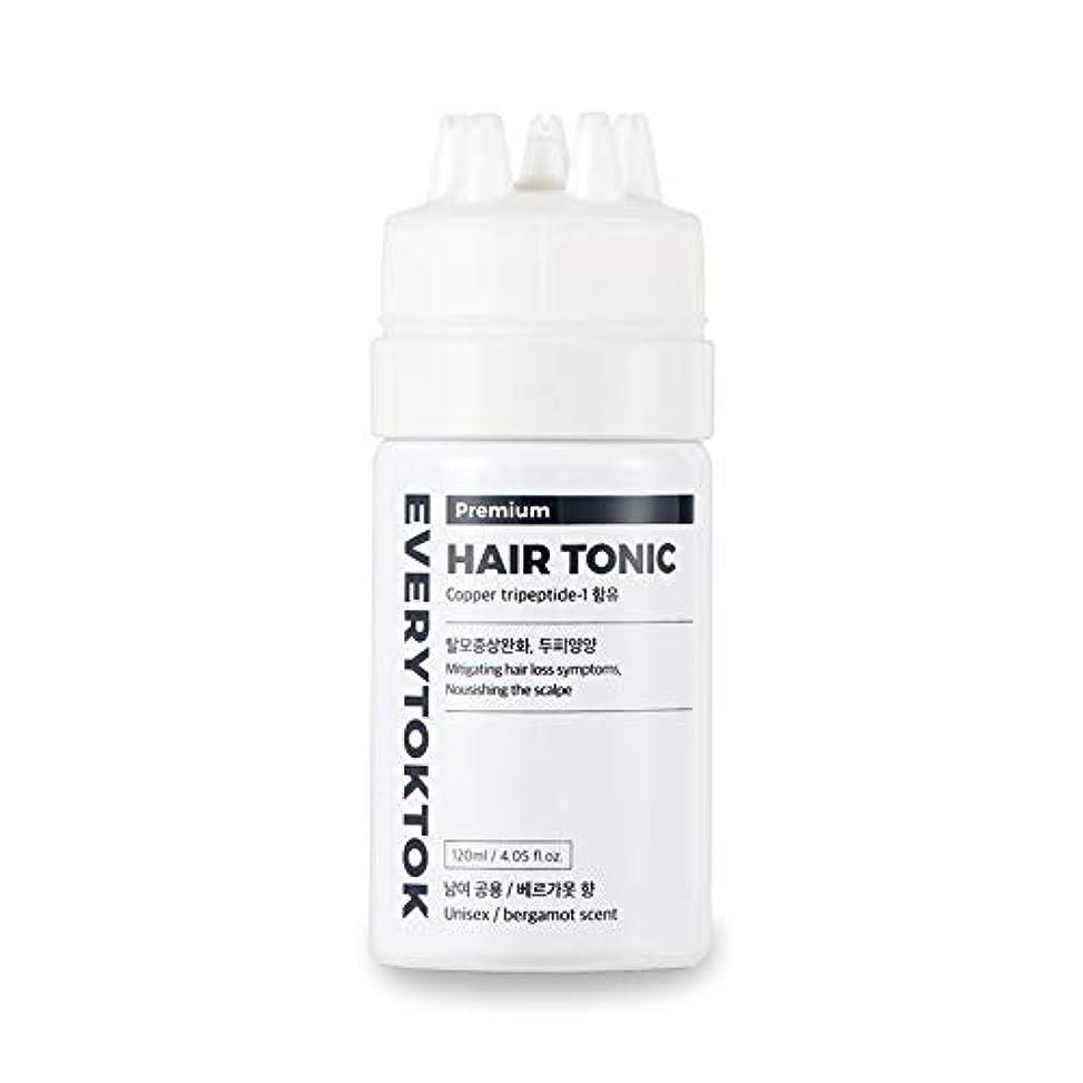 口述科学アクセスできない[Every TokTok] プレミアムヘアトニック - 頭皮エッセンス、育毛セラム、髪の根、髪の成長、4.05 fl oz、 韓国 ヘアトリートメント