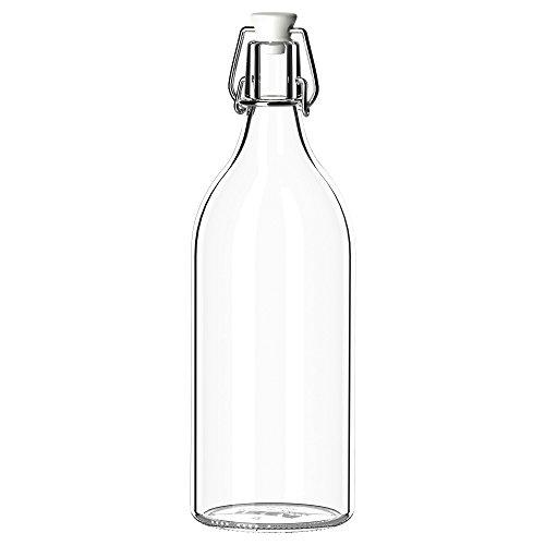 IKEA(イケア) KORKEN 00213558 ボトル ふた付き, クリアガラス