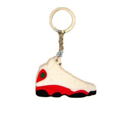 Jordan XIII 13ホワイト/レッドスニーカー靴キー...