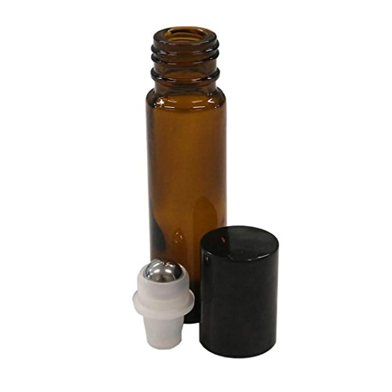 ライン立場レシピボトルには10ミリリットル(1/3オンス)アンバーグラスエッセンシャルオイルロール - 12のパック